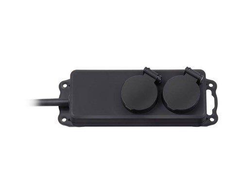Brennenstuhl Extension Socket Ip44 2-way Black 2m H07rn-f 3g1
