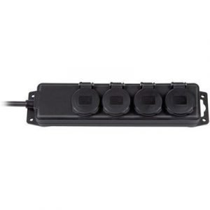 Brennenstuhl Extension Socket Ip44 4-way Black 2m H07rn-f 3g1
