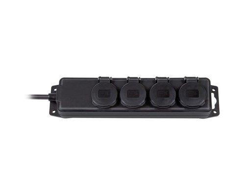 Brennenstuhl Extension Socket Ip44 4-way Black 2m H07rn-f 3g1