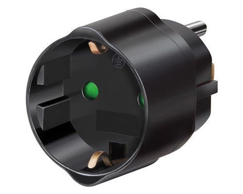 Brennenstuhl Traveladapter Eu Us/jap Earthed Black
