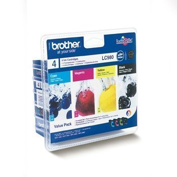 Brother DCP-145 C Inkjet Cartridge LC980VALBPDR 4 Pack Black Cyan Magenta Yellow