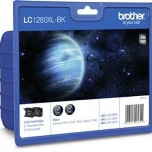Brother MFC-J 6710 DW Inkjet Cartridge LC1280XLBKBP2DR 2 Pack Black