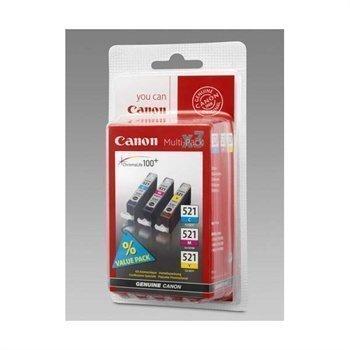 CANON CLI-521 NR. 521 2934B007AA Inkjet Cartridge CANON PIXMA IP 3600 Cyan Magenta Yellow