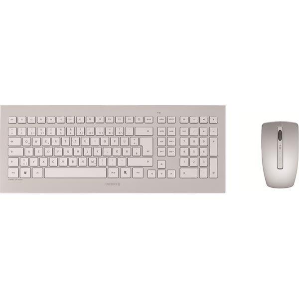 CHERRY langaton näppäimistö & hiiri DW8000 USB pohjoism valk./harm.