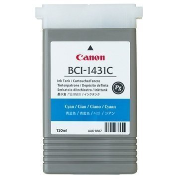 Canon BCI-1431C Mustepatruuna W6200 W6400 ImagePROGRAF W6200 Syaani
