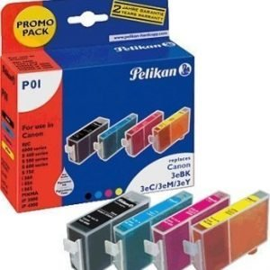 Canon BJC 3000 Inkjet Cartridge Pelikan P01 Multi Pack Black Cyan Magenta Yellow