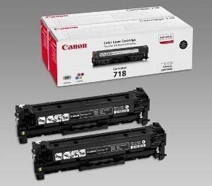 Canon CRG 718 Toner I-SENSYS LBP 7200 CDN 2 Pack Musta