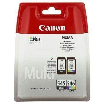 Canon PG-545 / CL-546 Mustepatruunapaketti 4 Väriä