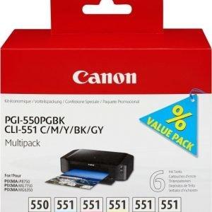 Canon PGI-550/CLI-551 PGBK/C/M/Y/BK/GY Multi-pack