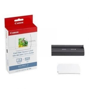 Canon Paper Kc-18is Card Size Square Label 18 Sheet