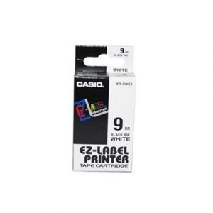 Casio Tape Xr-9we 9mm Black/white Back