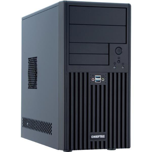 """Chieftec UNI minitower jossa 350W ATX12V virtalähde 2x5 25 4x3 5"""" mu"""""""