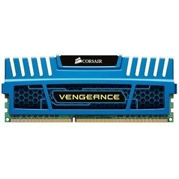 Corsair CMZ8GX3M1A1600C10B Vengeance DDR3 RAM Muisti 8Gt Sininen