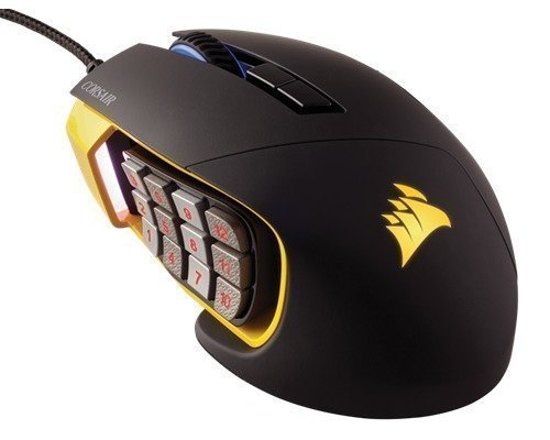 Corsair Gaming Scimitar Rgb Optinen Hiiri Musta Keltainen