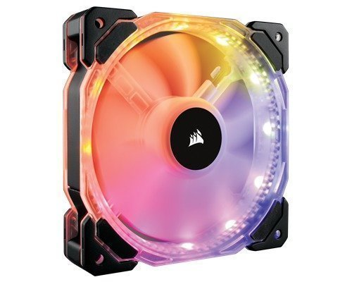 Corsair Hd120 Rgb Led Static Pressure Fan With Controller 120 Mm