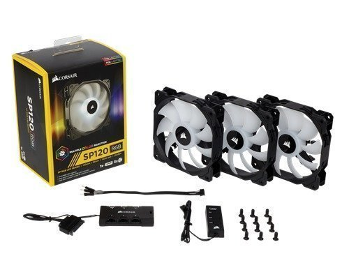 Corsair Sp120 Rgb Led 3-pack Static Pressure Fan With Contr. 120 Mm