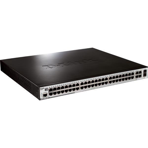 D-Link xStack kytkin 48x10/100 2+2 SFP PoE