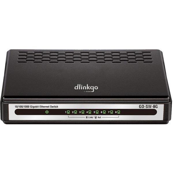 D-link 5-Port Gigabit Easy Desktop Switch switch 8x10/100/1000 musta