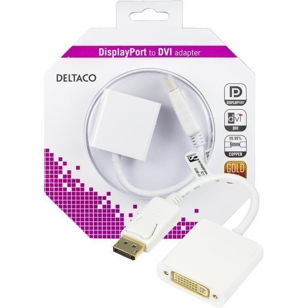 DELTACO DisplayPort - DVI-D singlelink sovitin 0 17m ur-na val