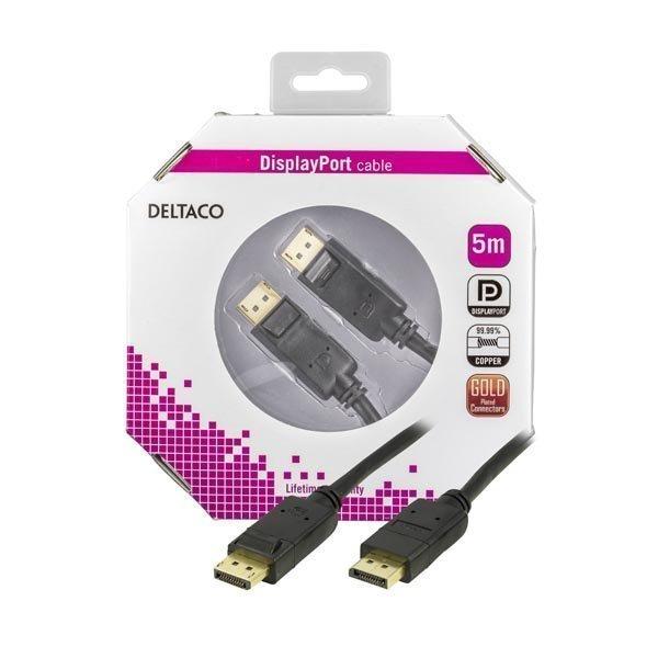 DELTACO DisplayPort monitorikaapeli 20-pin ur - ur musta 5m