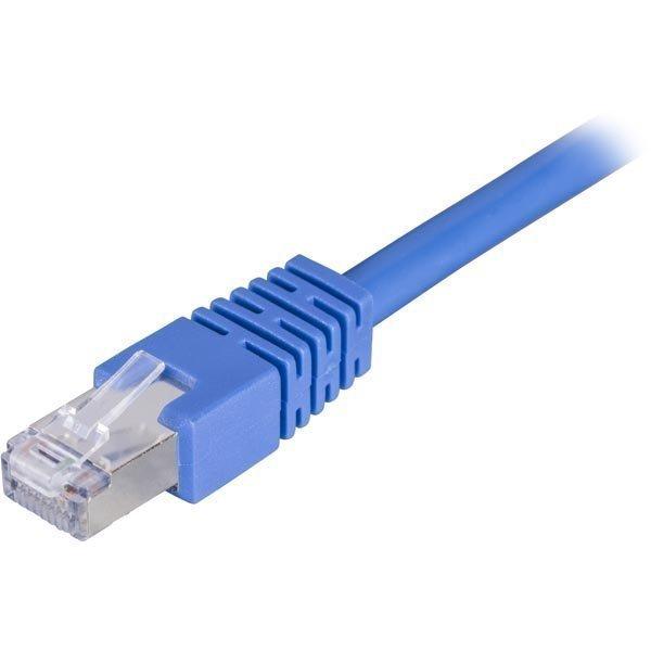 DELTACO F/UTP Cat6 laitekaapeli 25m sininen