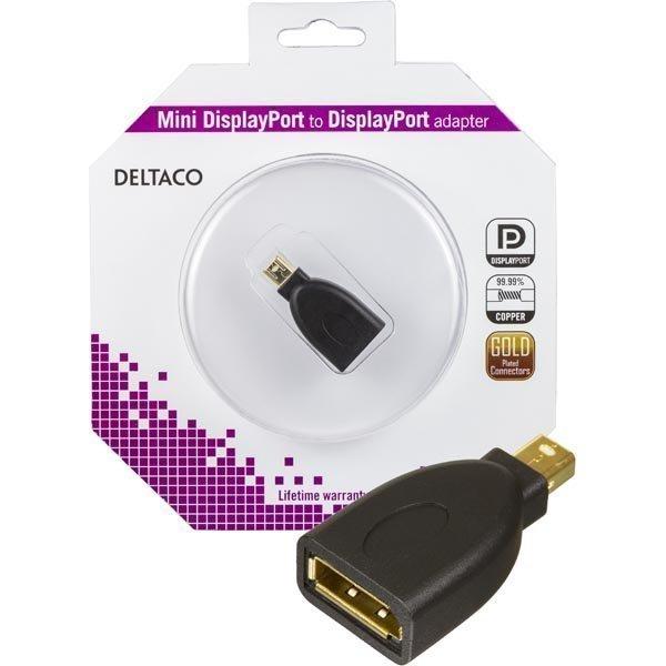 DELTACO Mini DisplayPort ur - DisplayPort na musta