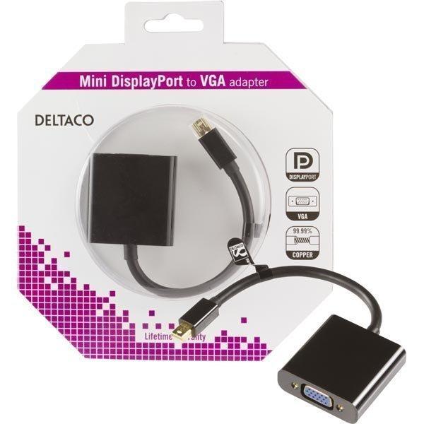 DELTACO mini DisplayPort - VGA-sovitin 20-pin ur - 15-pin na 0 2m m