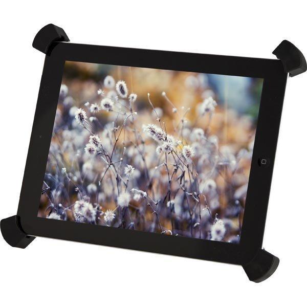 DELTACO säädettävä iPad/iPad 2/iPad 3 -teline hopea