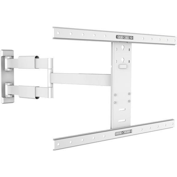 """DELTACO seinäteline TV:lle/näytölle 32-60"""" max 30 kg VESA 200x200 - 600x400mm 15° kallistus 180° kierto 3 niveltä valkoinen"""""""
