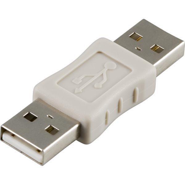 DELTACO sukupuolenvaihtaja USB A-A uros