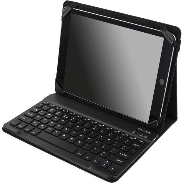 """DELTACO suojus ja Bluetooth näppäimistö 10 tableteille UK musta"""""""