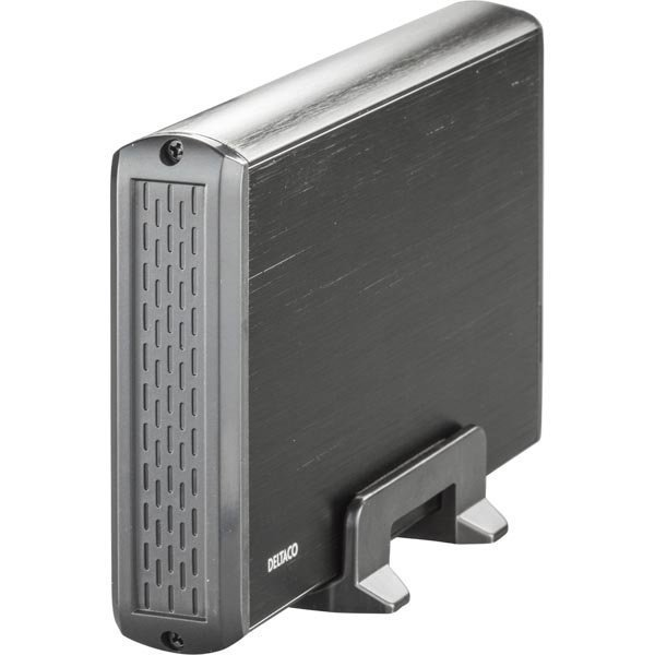 """DELTACO ulk.kotelo 1x3 5 SATA-kiintolevylle USB 3.0 alu musta"""""""