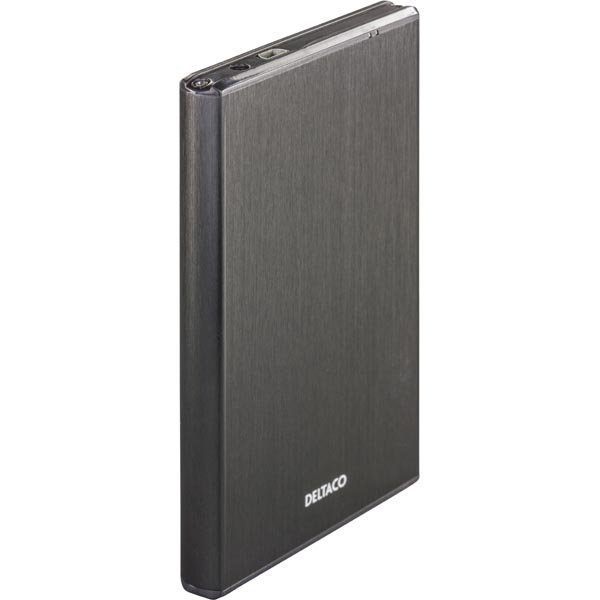 """DELTACO ulkoinen kotelo 1x2 5 SATA 6Gb/s-kiintolevy USB3 musta"""""""