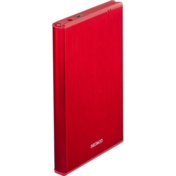 """DELTACO ulkoinen kotelo 1x2 5 SATA 6Gb/s-kiintolevy USB3 pun"""""""