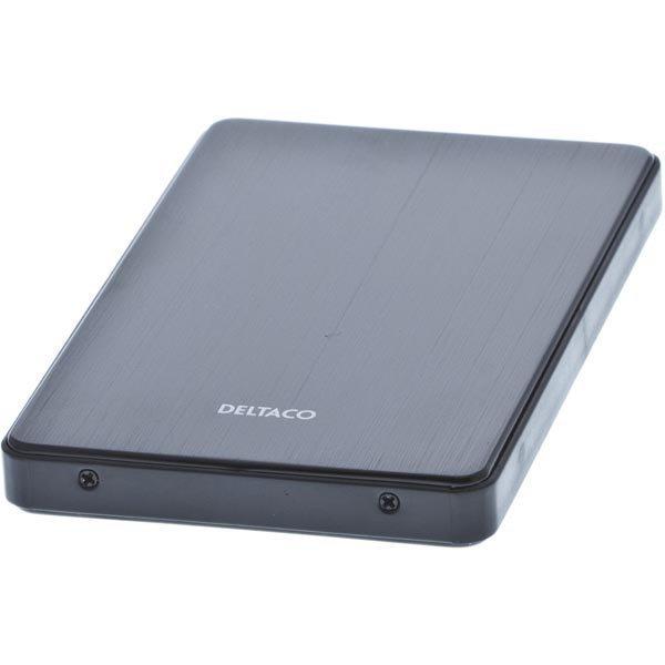 """DELTACO ulkoinen kotelo 1x2 5 SATA-kiintolevylle USB 3.0 musta"""""""