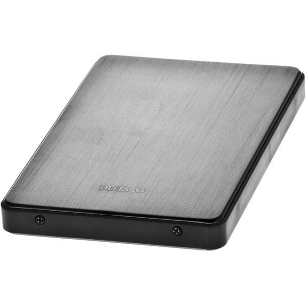 """DELTACO ulkoinen kotelo 1x2 5 SATA-kiintolevylle USB3.0 metallinharm"""""""