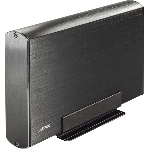 """DELTACO ulkoinen kotelo 1x3 5 SATA 6Gb/s-kiintole USB3 alu mu"""""""