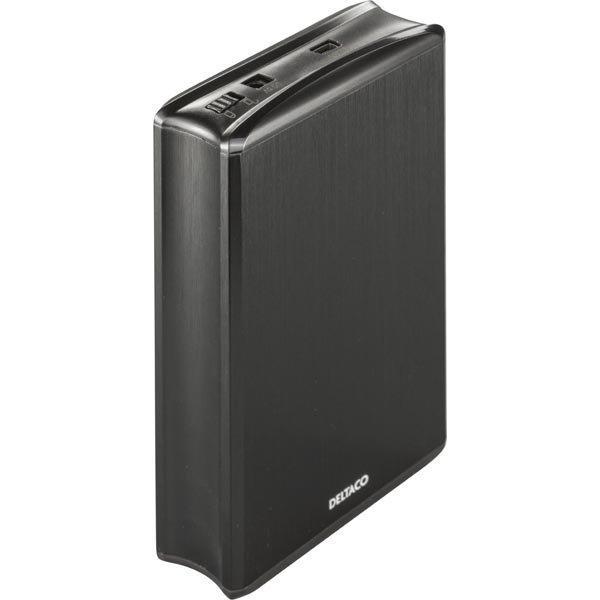 """DELTACO ulkoinen kotelo 2x2 5 SATA-kiintolevylle RAID 0/1 USB musta"""""""