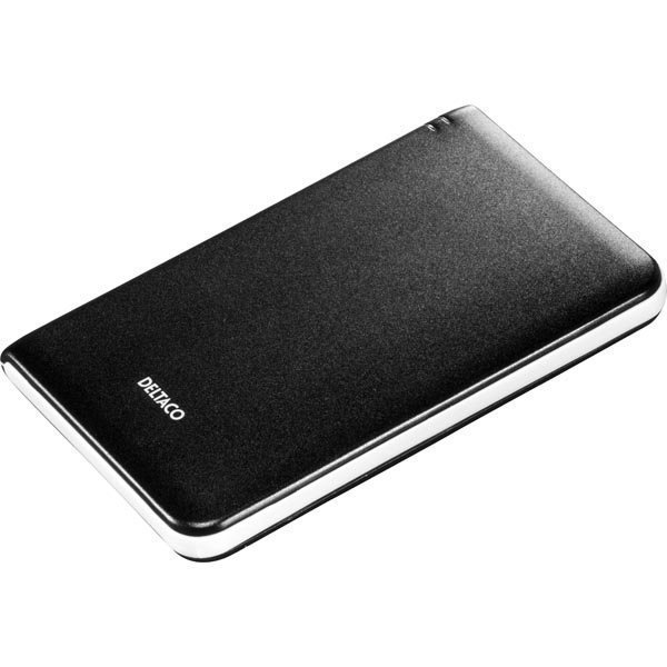"""DELTACO ulkoinen kotelo1x2 5 SATA-kiintolevylle USB 3.0 musta"""""""