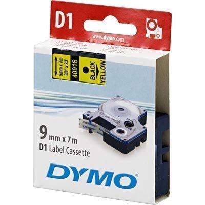 DYMO D1 merkkausteippi 9 mm keltainen/musta teksti 7 m