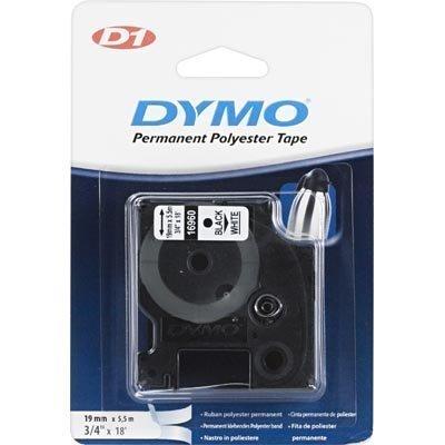 DYMO D1 merkkausteippi perm.polyester 19 mm valk/musta teksti 5 5 m