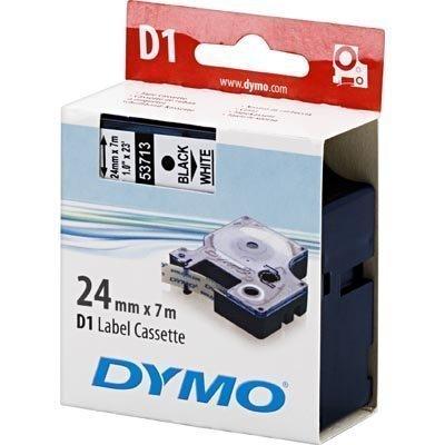 DYMO D1 merkkausteippi standardi 24mm valkoinen 7m rulla