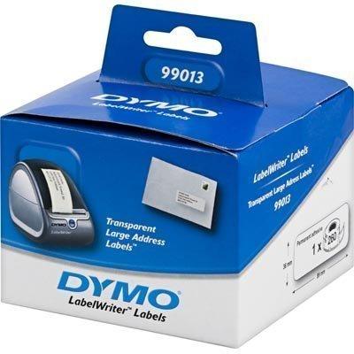 DYMO LabelWriter isot läpinäkyvät osoite-etiketit 89x36mm 260kpl