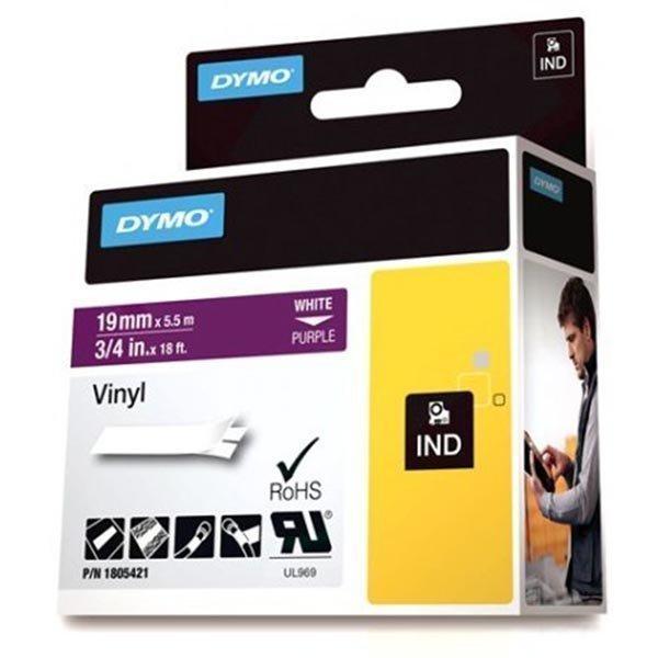 DYMO Rhino Professional 19mm merkkausteippi valk.teksti lila.teip