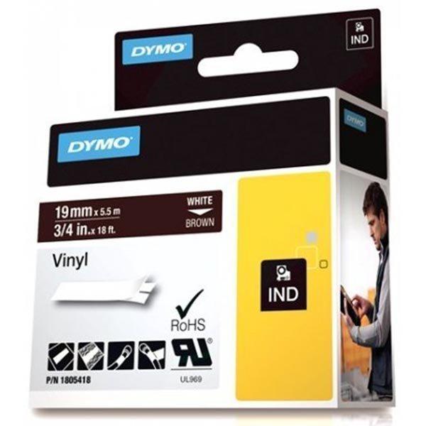 DYMO Rhino Professional 19mm merkkausteippi valk.teksti rusk.teip