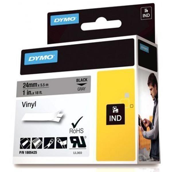 DYMO Rhino Professional 24mm merkkausteippi musta.teksti harm.teip