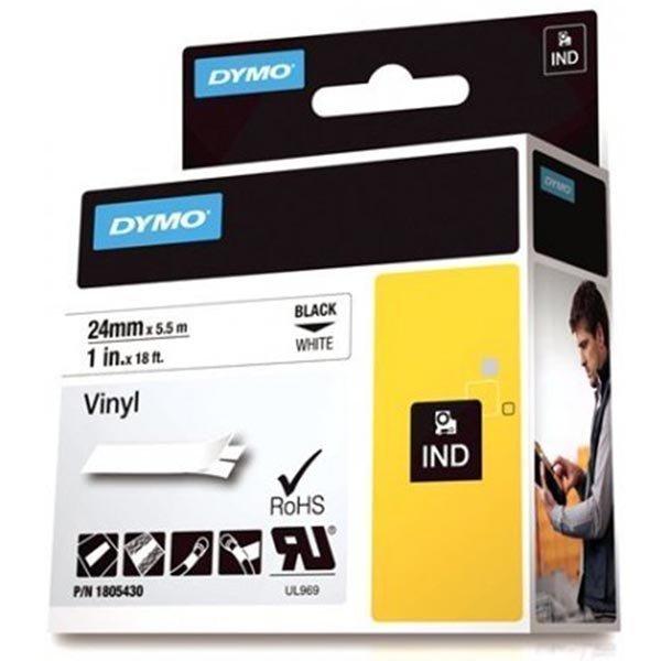 DYMO Rhino Professional 24mm merkkausteippi must.teksti val. teippi