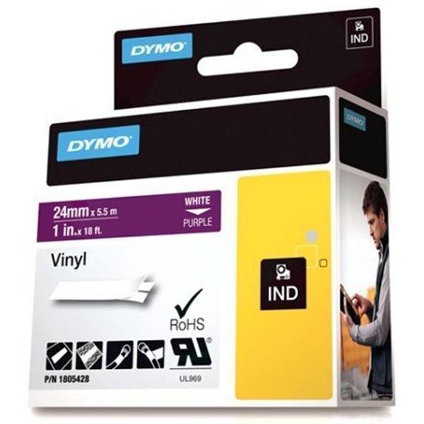 DYMO Rhino Professional 24mm merkkausteippi valk.teksti lila teippi