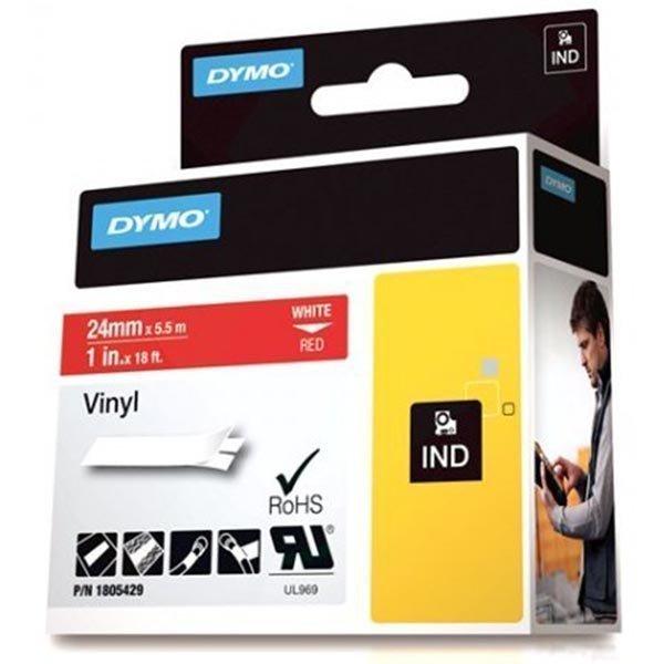 DYMO Rhino Professional 24mm merkkausteippi valk.teksti pun. teippi