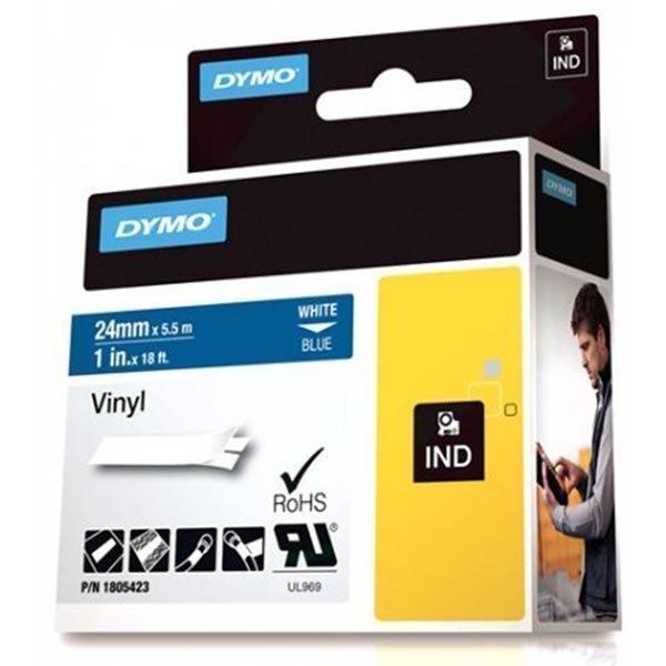 DYMO Rhino Professional 24mm merkkausteippi valk.teksti sin.teip